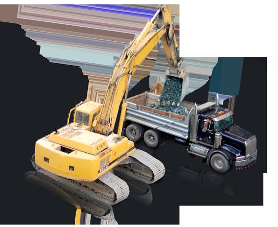 AllWest  gravel, loader, truck, excavate